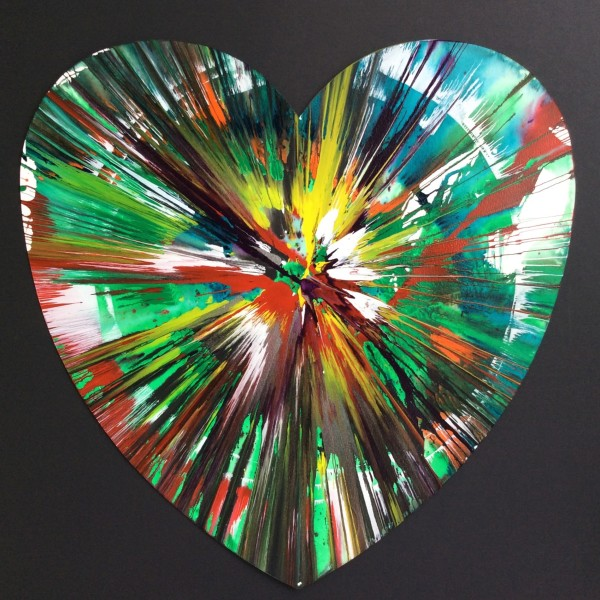 Damien Hirst, Heart (original spin painting on paper) *SOLD*, 2009