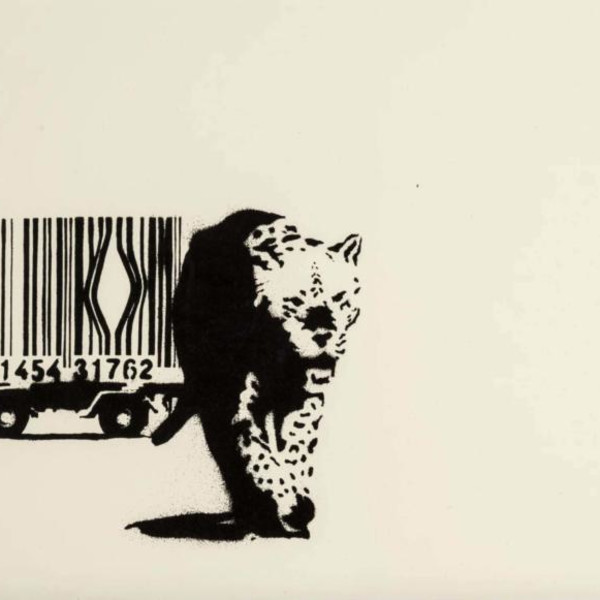 Banksy, Barcode (SIGNED, Pest Control COA), 2004