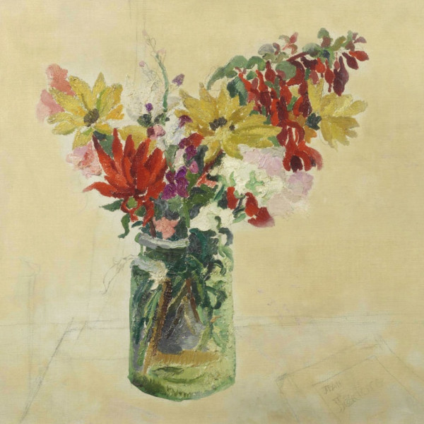 Flowers in a Glass-Jar, 1926