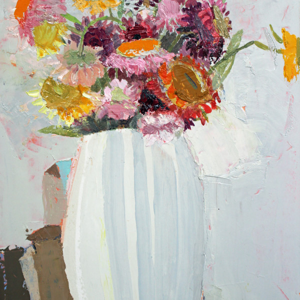 Sydney Licht - Still Life with Flowers and Boxes