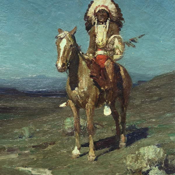 Frank Tenny Johnson - A Sioux Chief