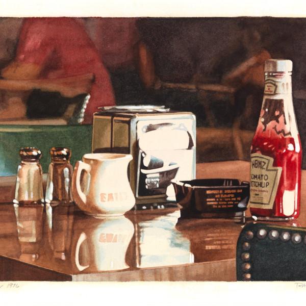 Ralph Goings - Coffee shop still life