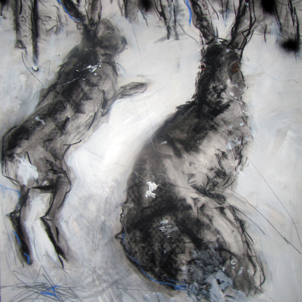 Margo Banks - Two Winter Hares
