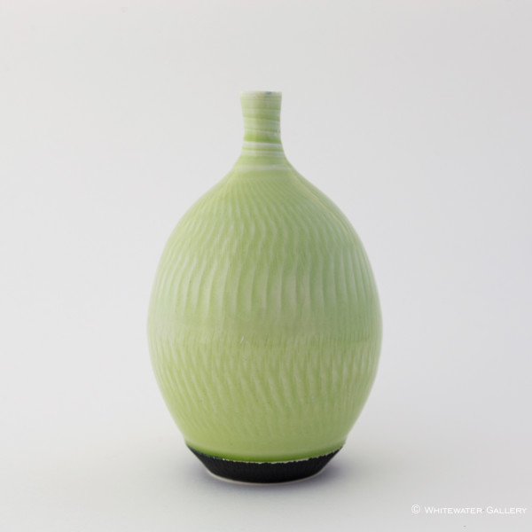 Hugh West, Pale Green Glazed Bottle Vase