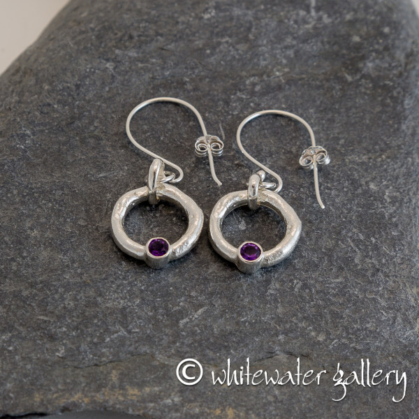 Marsha Drew, Rockpool Halo Drop Earrings with Amethyst