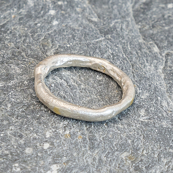 Marsha Drew, Rockpool Ring with Gold Compass Points