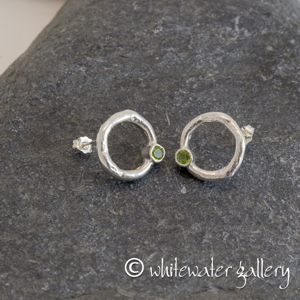 Marsha Drew, Rockpool Halo Stud Earrings with Peridot