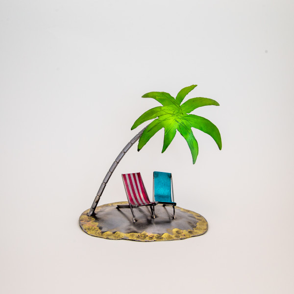 Kerry Whittle, Island +Two Chairs + Palm