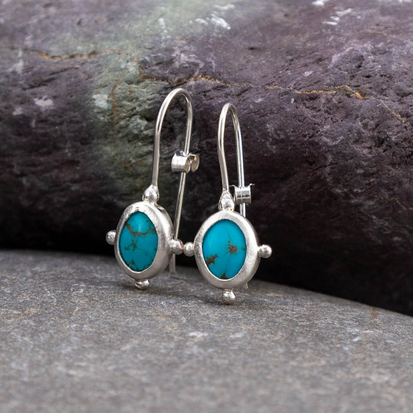 Marsha drew, Morwen Drop Earrings Turquoise