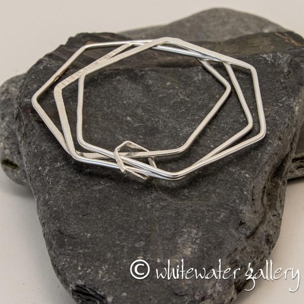 Marsha Drew, Hexagon Triple Charm Bangle