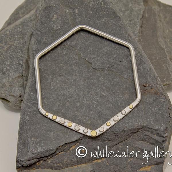 Marsha Drew, Hexagon Bangle with Gold Dots