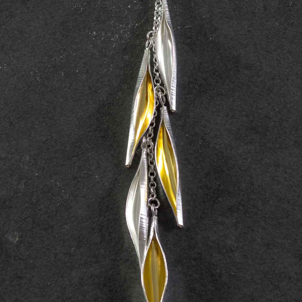 Marsha Drew, Pod Cascade Necklace with 24k Gold Keum-Boo