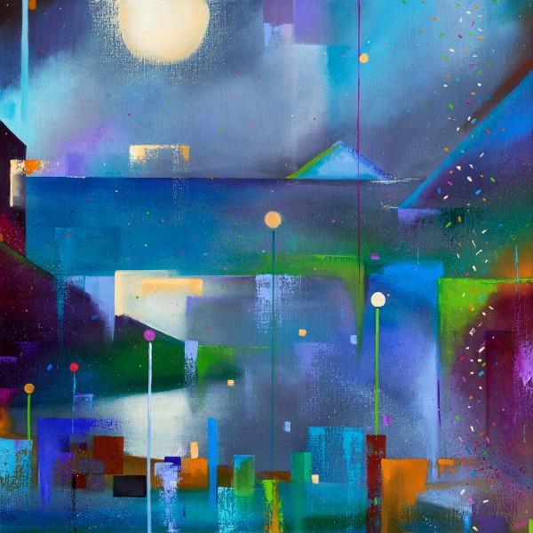 Suki Wapshott, Lamplight on a Rainy Night