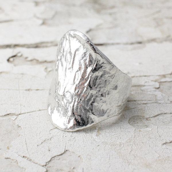 Marsha Drew, Textured Shield Ring