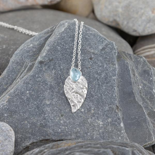 Marsha Drew, Strata Wing Pendant with Aquamarine