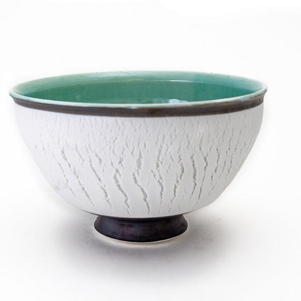 Hugh West, White Crackled Bowl