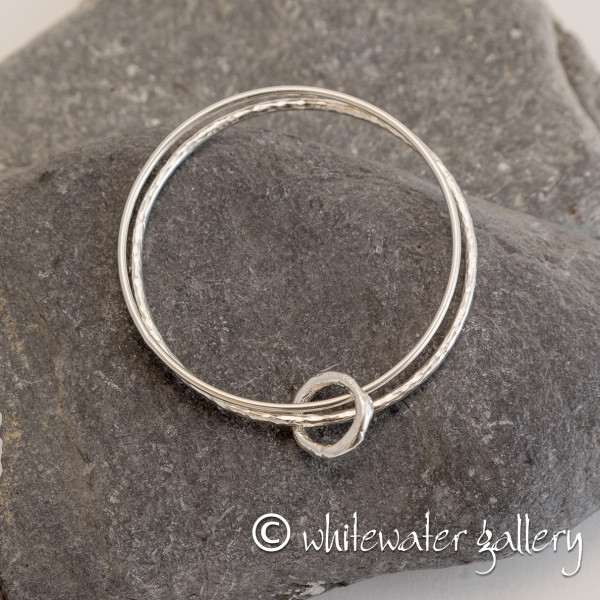 Marsha Drew, Rockpool Double Bangle with Halo Charm