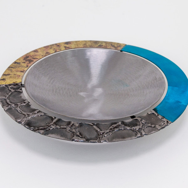Tilly Whittle, Bowl with Blue and Gold Rim
