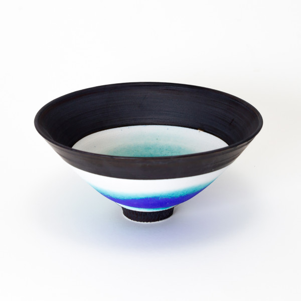 Hugh West, Blue, Turquoise & Black Bowl