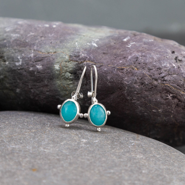 Marsha drew, Morwen Drop Earrings Amazonite