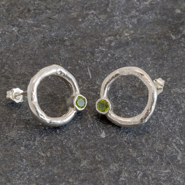 Marsha Drew, Rockpool Halo Stud Earrings with Peridot
