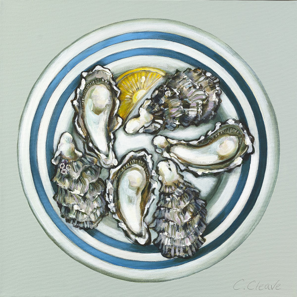Caroline Cleave, Porthilly Oysters on a Plate