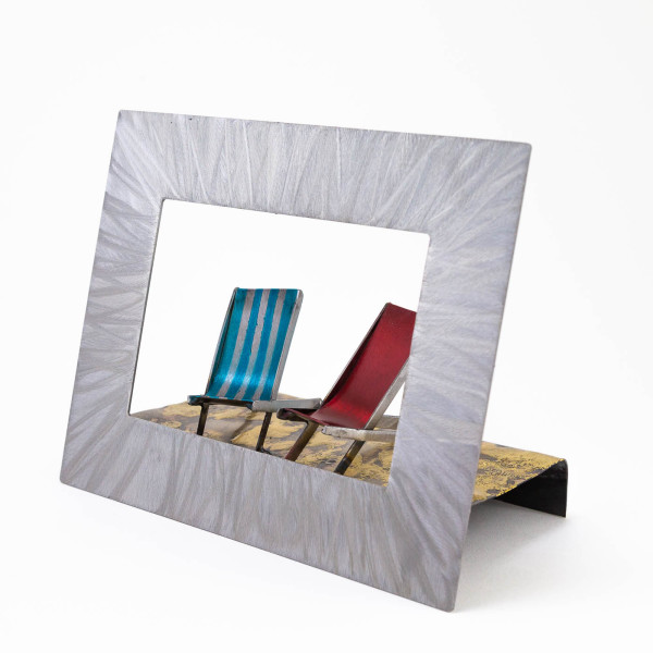 Kerry Whittle - Framed Scene with Two Deckchairs
