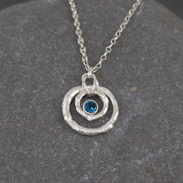 Marsha Drew, Rockpool Ripple Pendant with London Blue Topaz