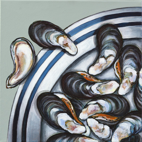Caroline Cleave, Mussels on a Cornish Plate