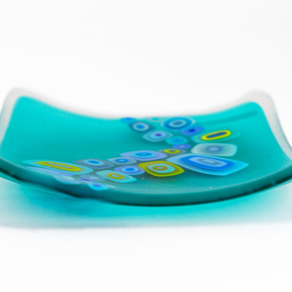 David Pascoe, Square Allsorts Dish Light Aqua