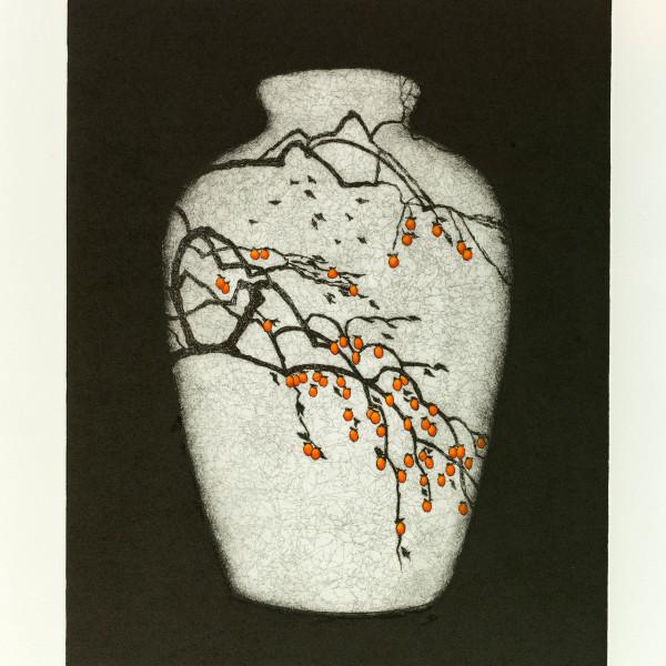 Sally Spens - Persimmon Tree, January in Kyoto