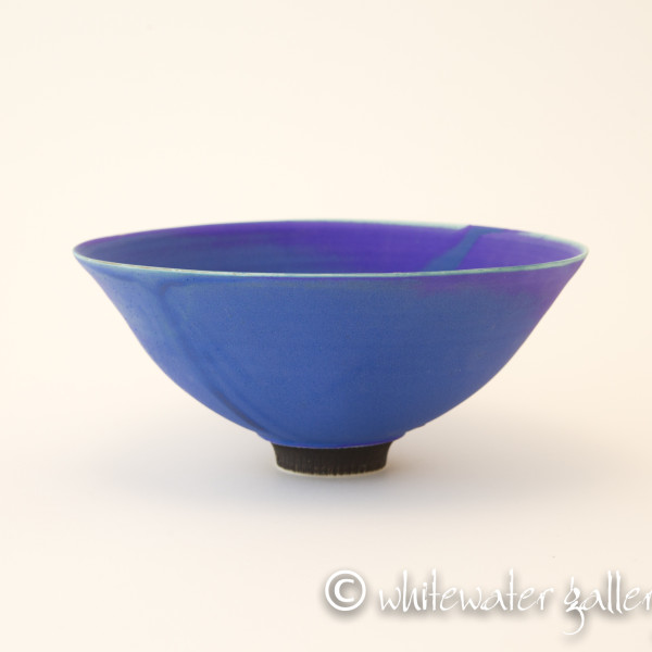 Hugh West, Electric Blue Matt Glazed Bowl