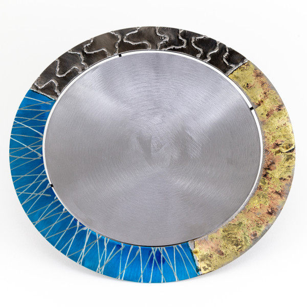 Tilly Whittle, Bowl with Blue and Gold Brim