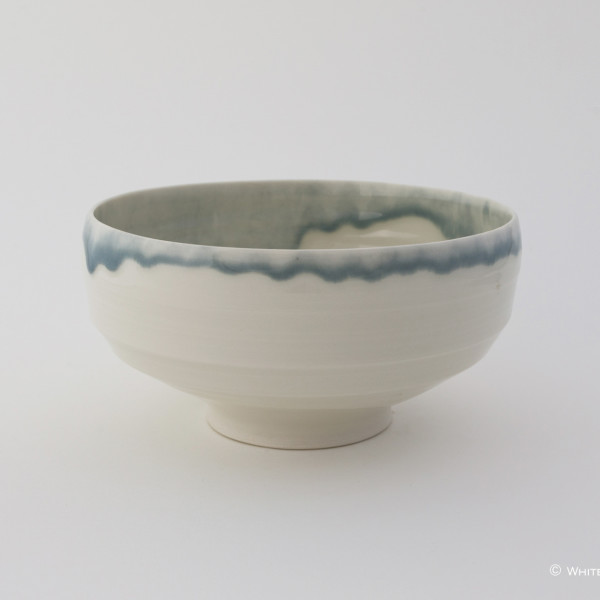 Rebecca Harvey, Bowl with Blue Rim
