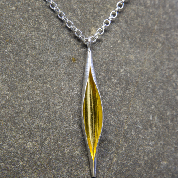 Marsha Drew, Pod Necklace with 24k Gold Keum-Boo