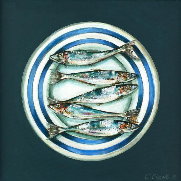 Caroline Cleave, Five Sardines on a Plate