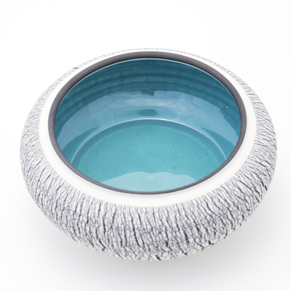 Hugh West, Black and White Turquoise Bowl, 2018