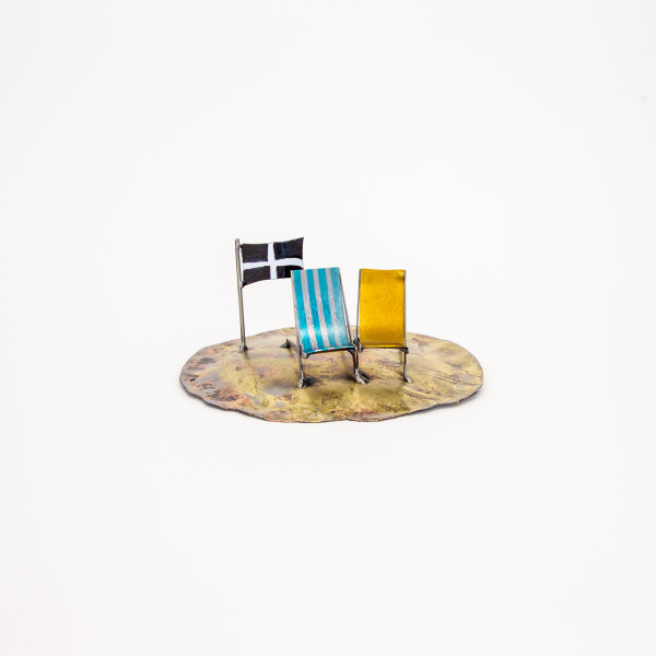 Kerry Whittle, Island +Two Chairs + Cornish Flag