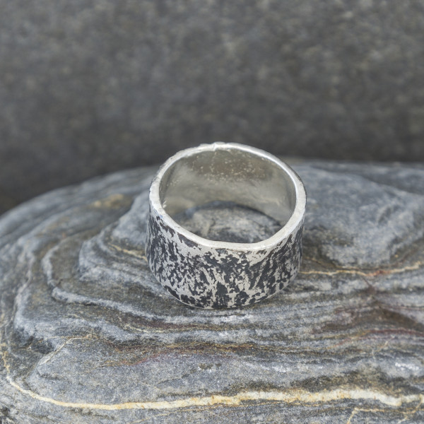 Marsha Drew, Oxidised Textured Ring