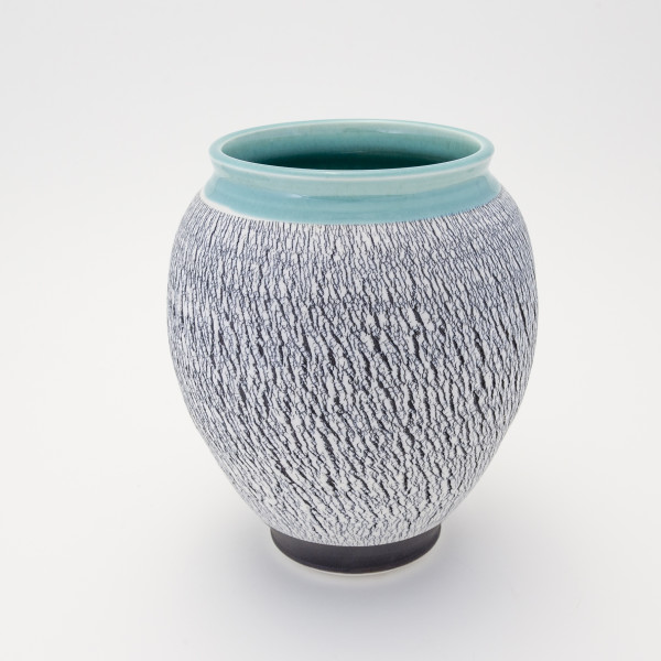 Hugh West, Black and White Turquoise Vase, 2018