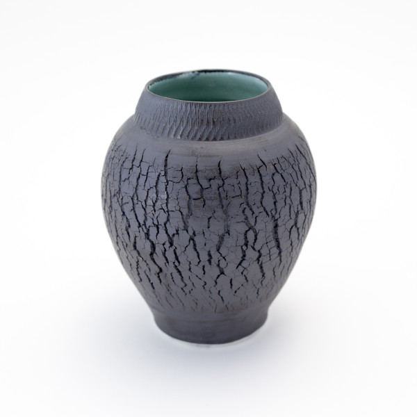 Hugh West, Black Crackled Vase