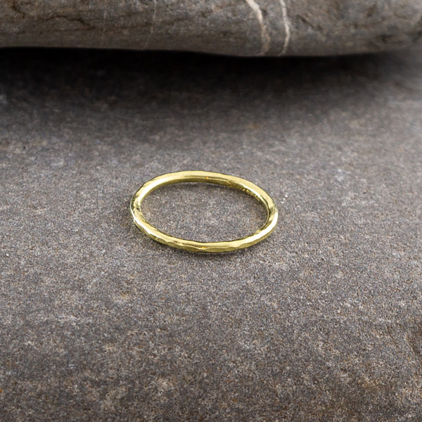 Marsha Drew, Slim Hammered Gold Ring