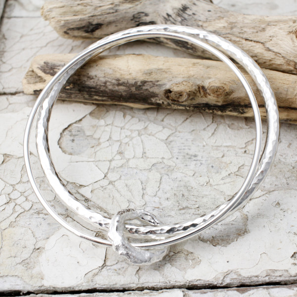 Marsha Drew - Double Halo Charm Heavy Bangle