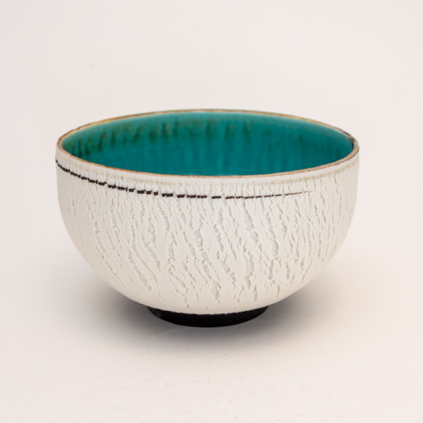 Hugh West, Crackled Rose Pot Bowl
