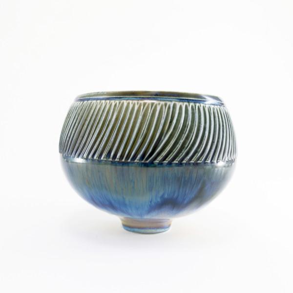 Hugh West, Blue Fluted Bowl, 2021