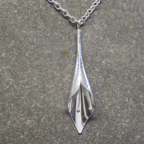 Marsha Drew, Calla Lily Pendant in Silver