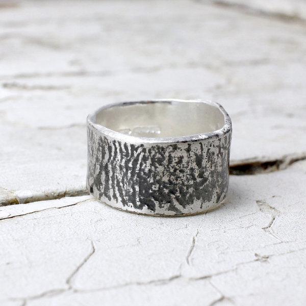Marsha Drew, Oxidised Textured Ring