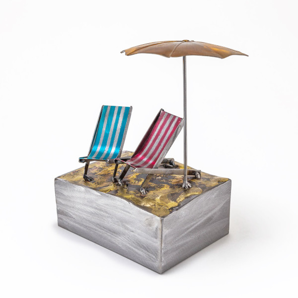 Kerry Whittle, Deckchairs with Parasol