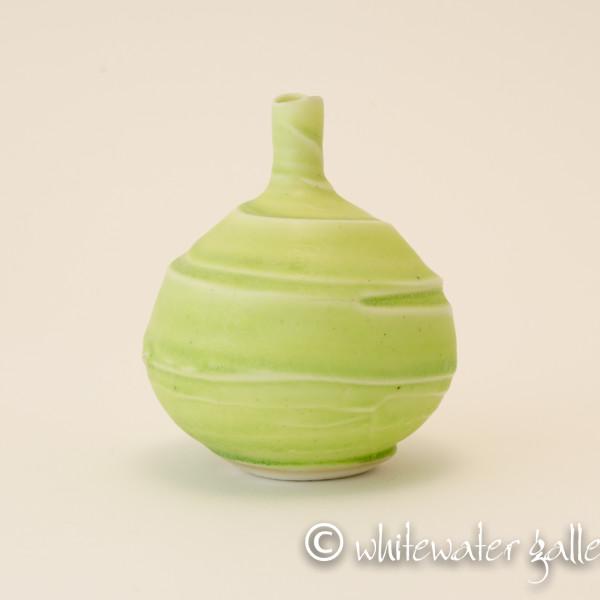 Hugh West, Small Textured Bottle Vase Green