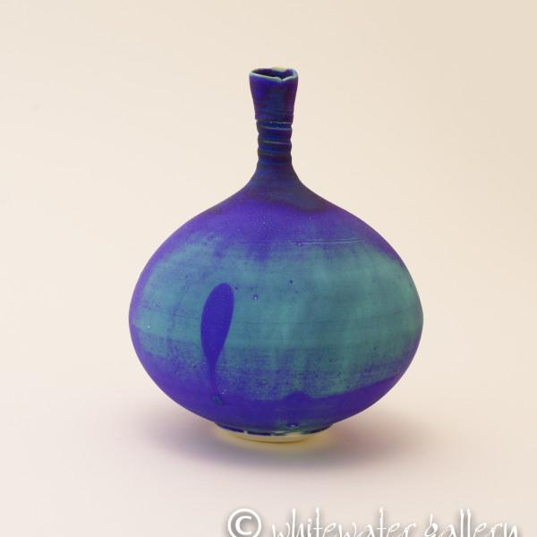 Hugh West, Bottle Vase Electric Blue/Green
